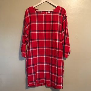 Old Navy | Red Plaid Dress | NWT | M